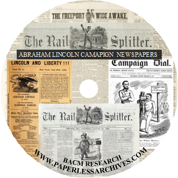 Abraham Lincoln Campaign Newspapers 1860-1864 CD-ROM