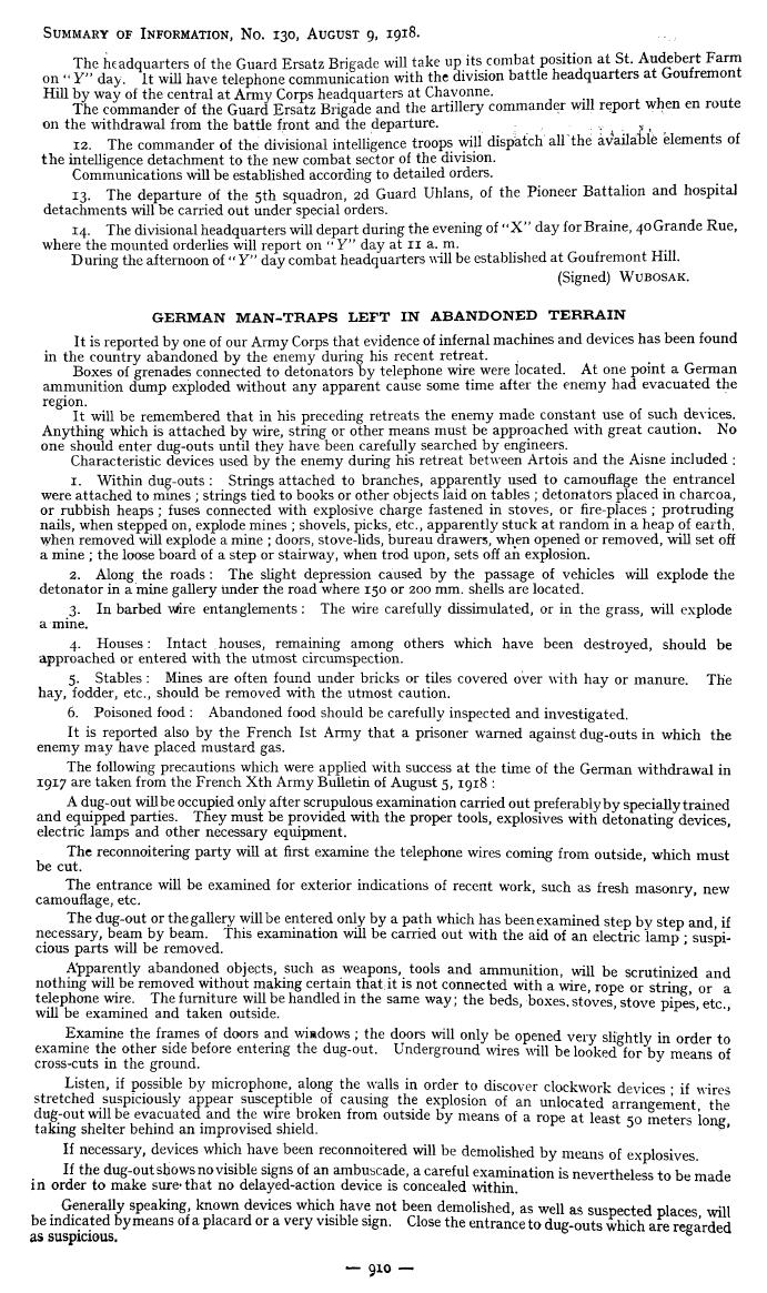 American Expeditionary Forces Daily Summary of Information Reports 5