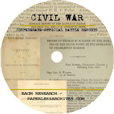 Civil War Confederate Official Battle Reports Disc