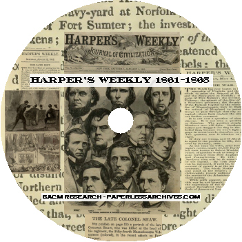 Civil War Harpers Weekly 1861-1865 Disc