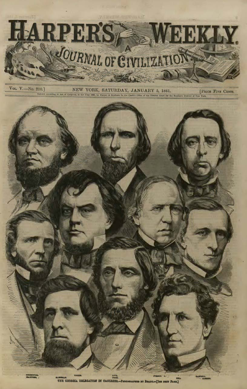 Civil War Harpers Weekly Cover January 1861