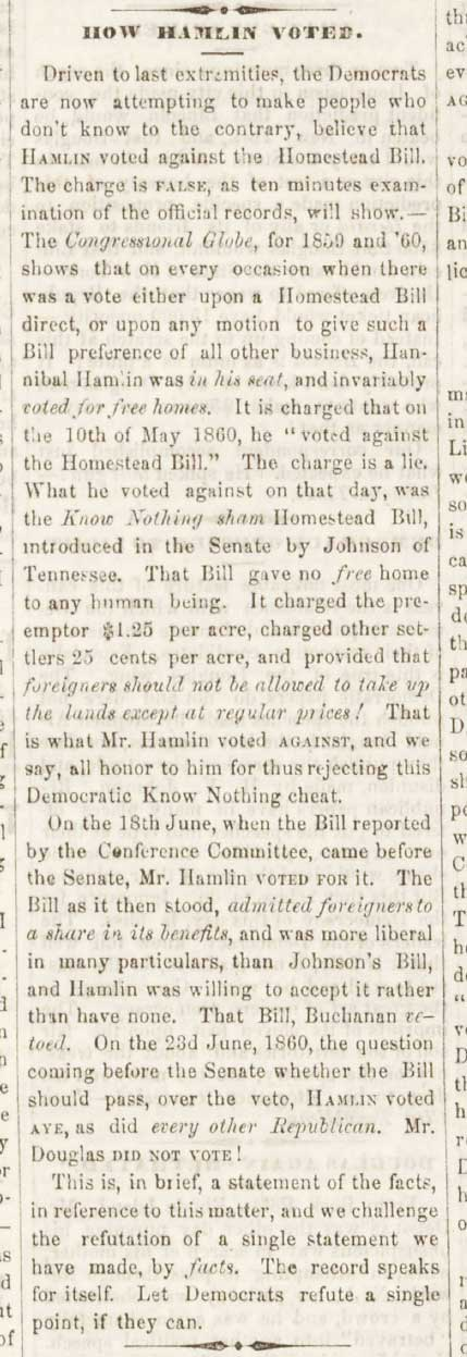 Freeport Wide Awake Abraham Lincoln Campaign Newspaper September 1, 1860 Article