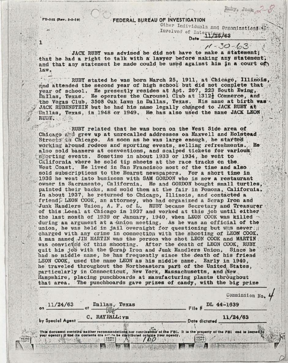 John-F-Kennedy-Assassination-Jack-Ruby-Warren-Commission-Vertical-Files-Page-1