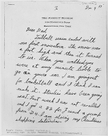John F. Kennedy letter to his father Joseph P Kennedy Sr