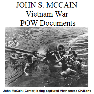 John McCain POW Documents SQUARE 300