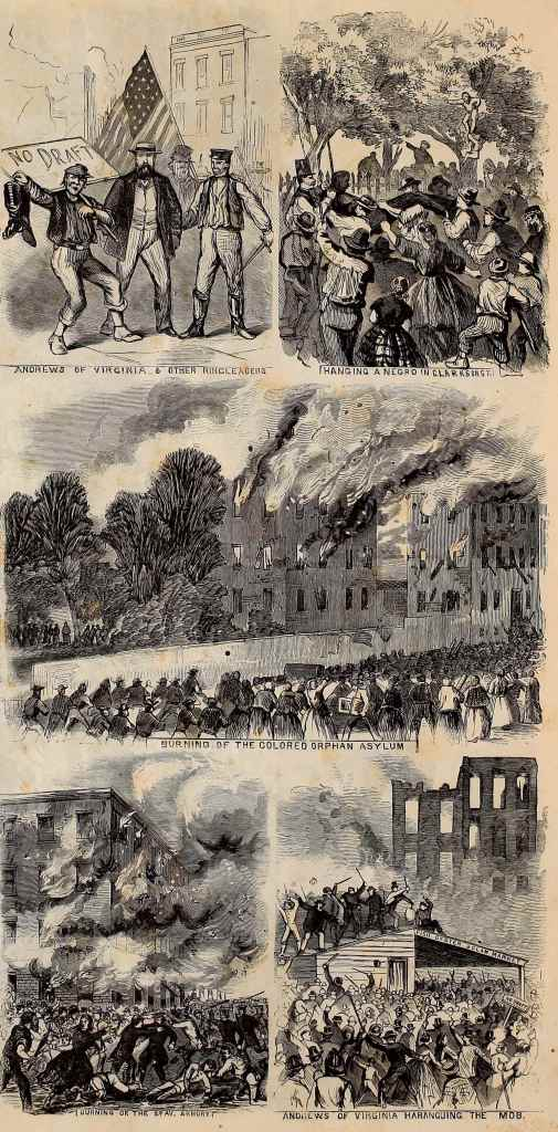 Leslie's Illustrated Weekly Illustrations of the New York City Draft Riot