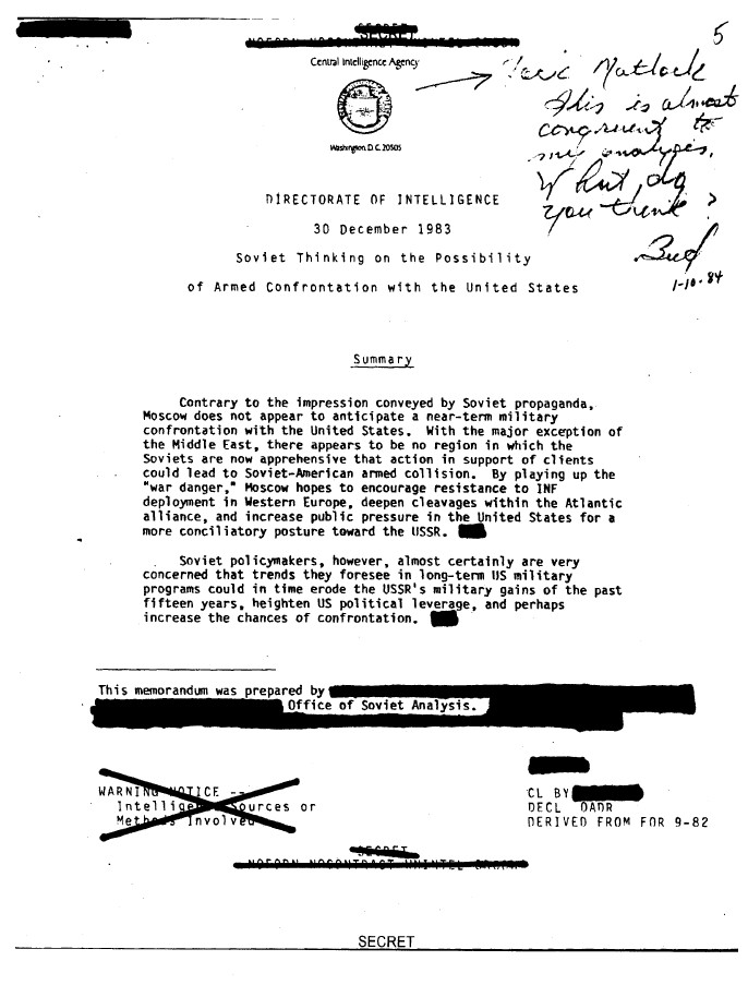 Ronald Reagan Cold War CIA Files 3