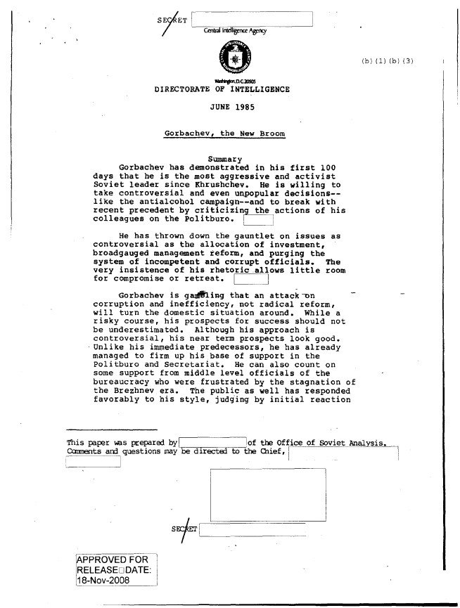 Ronald Reagan Cold War CIA Files 4