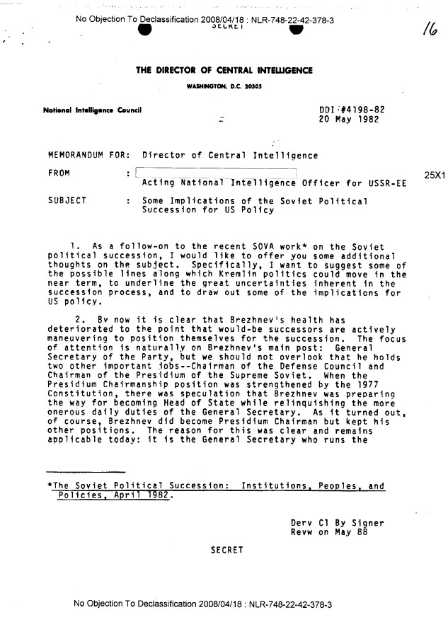 Ronald Reagan Cold War CIA Files 7