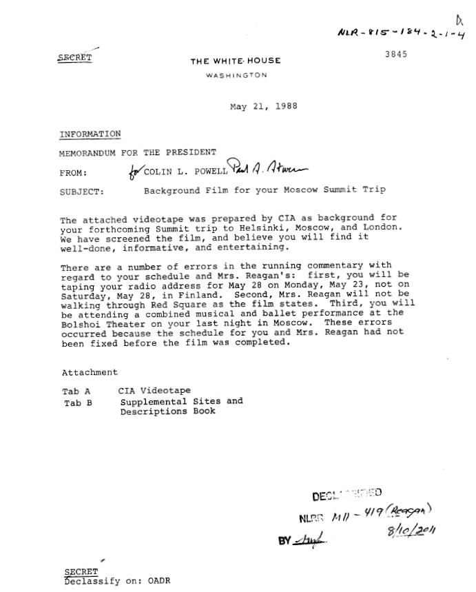 Ronald Reagan Cold War CIA Files 8