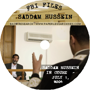 Saddam Hussein & Top Iraqi Officials FBI Files CD-ROM