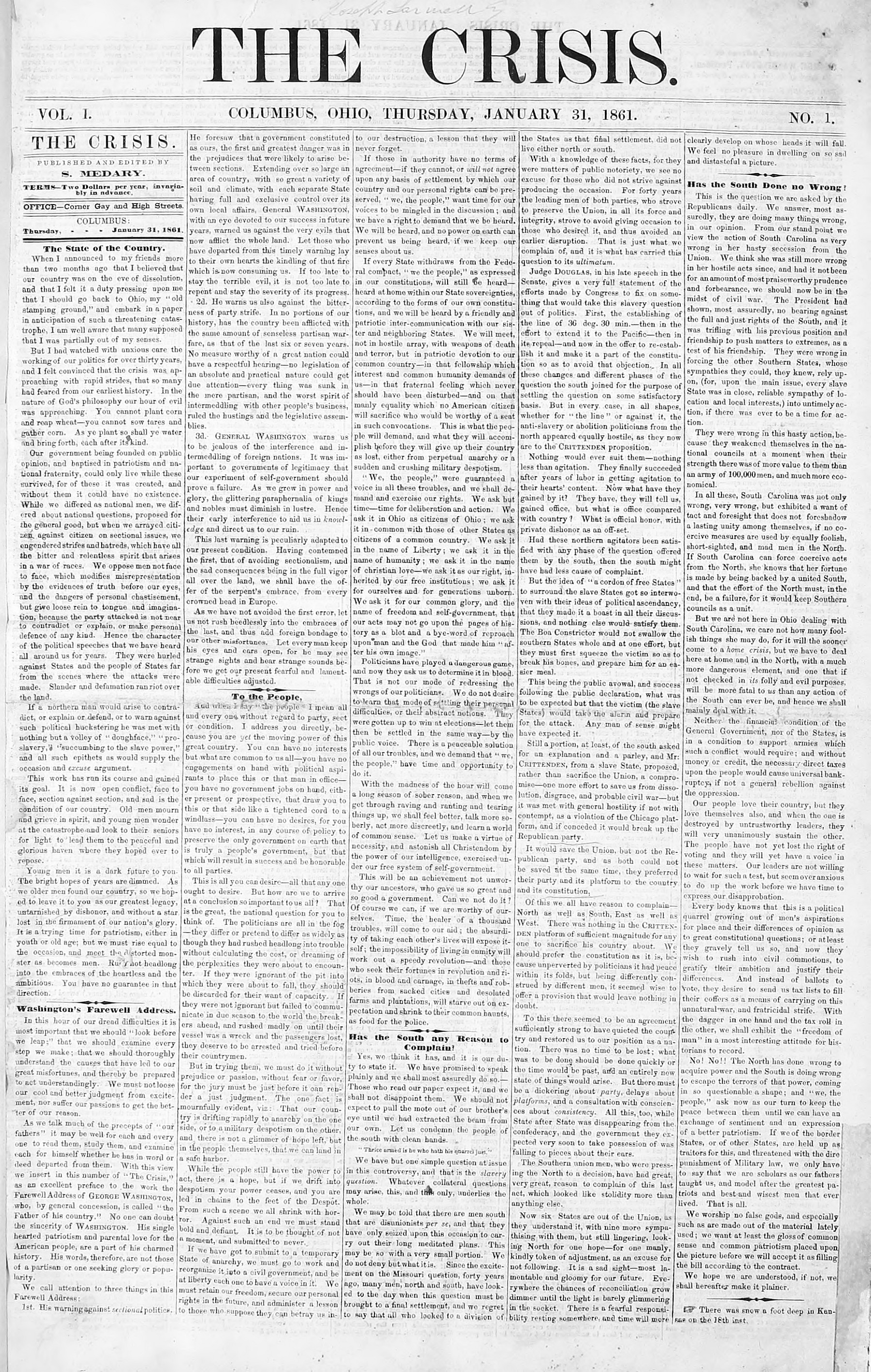 The-Crisis-January-31-1861