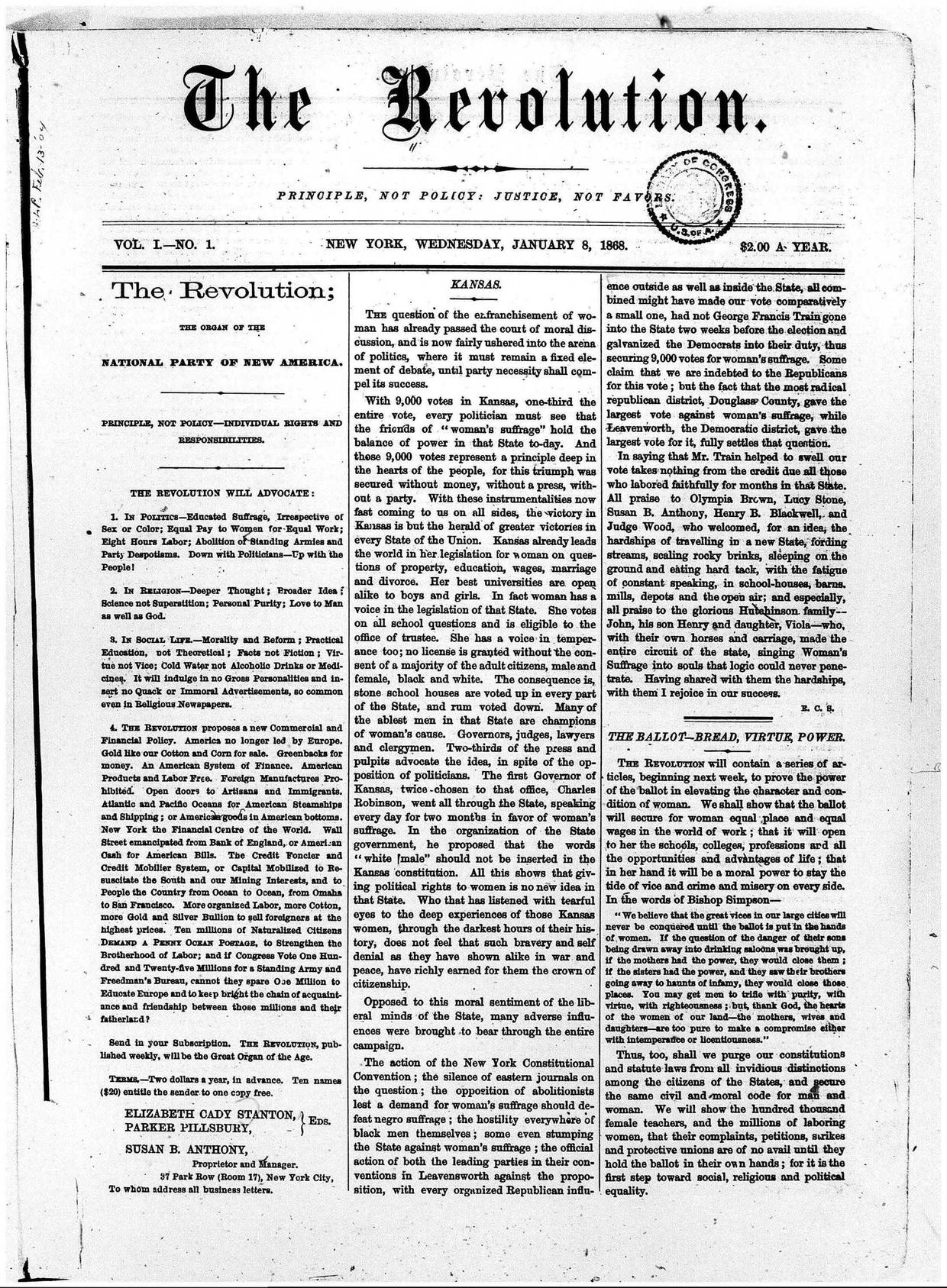 The-Revolution-Susan-B.-Anthony's-Suffrage-Women's-Rights-Newspaper-January-8,-1868