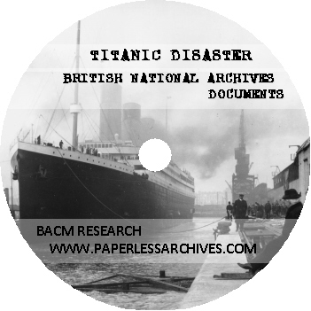 Titanic Disaster British National Archives Documents