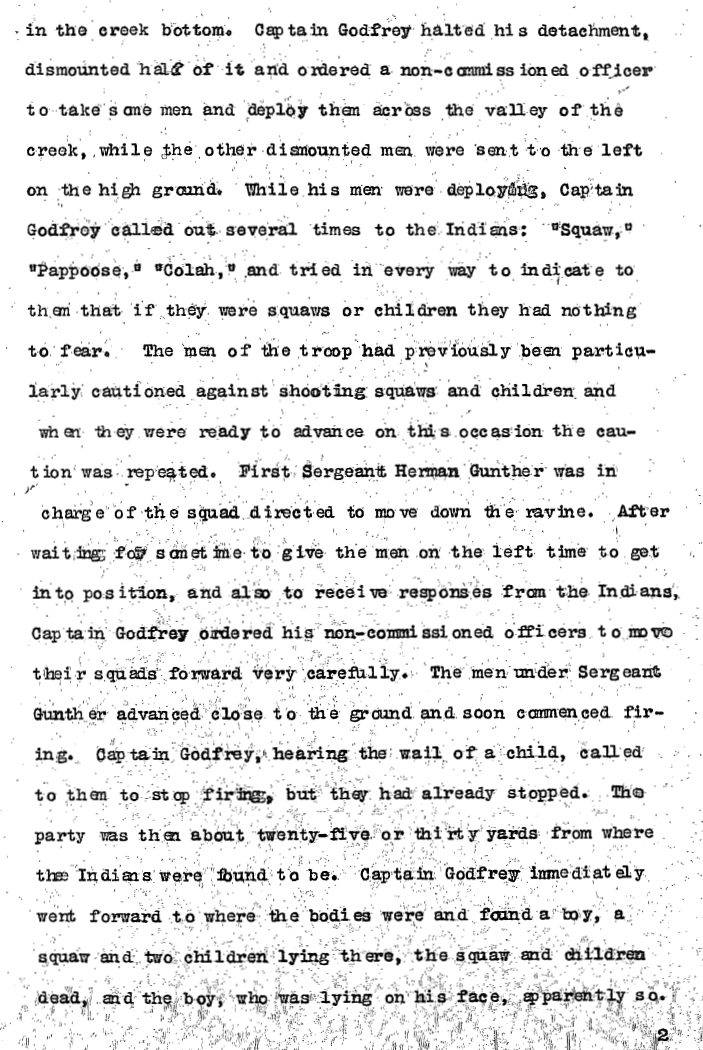 United States Army Reports on Wounded Knee Massacre 3