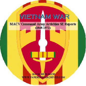 VietnamWr MACV Army Activities Reports (1969-1972) CD-ROM