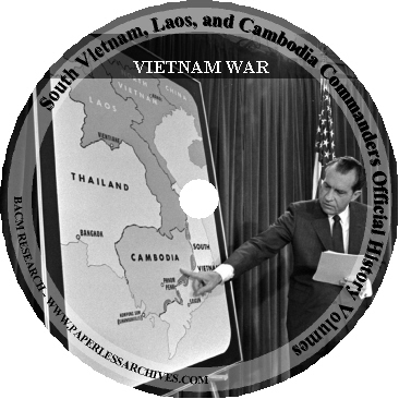 Vietnam War South Vietnam, Laos, and Cambodia Official History Volumes CD-ROM