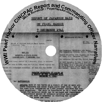 WWII-Pearl-Harbor-CINCPAC-Report-and-Commanding-Officers-Narratives-CD-ROM
