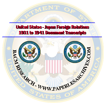 WWII-United-States-Japan-Foreign-Relations-1931-to-1941-Document-Transcripts-CD-ROM