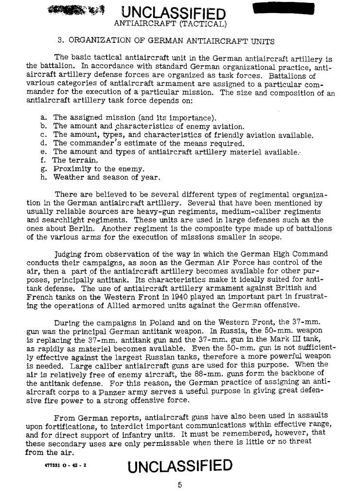 WWII Intelligence Service Tactical And Technical Trends Bulletins Page 3