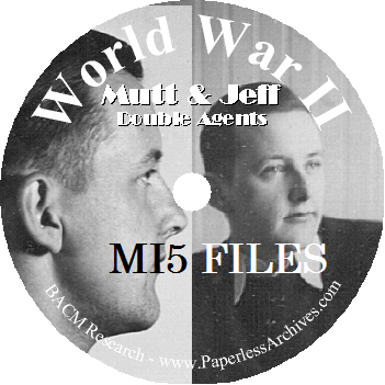 WWII Mutt & Jeff MI5 Files CD-ROM