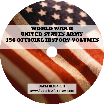 WWII Official Army History DVD-ROM