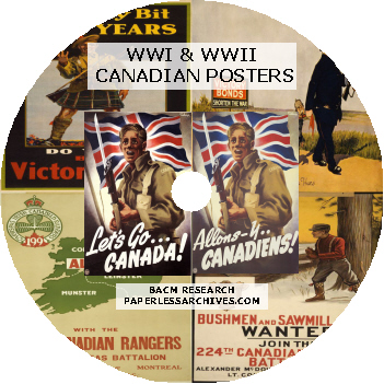 WWI & WWI Canadian Posters DISC