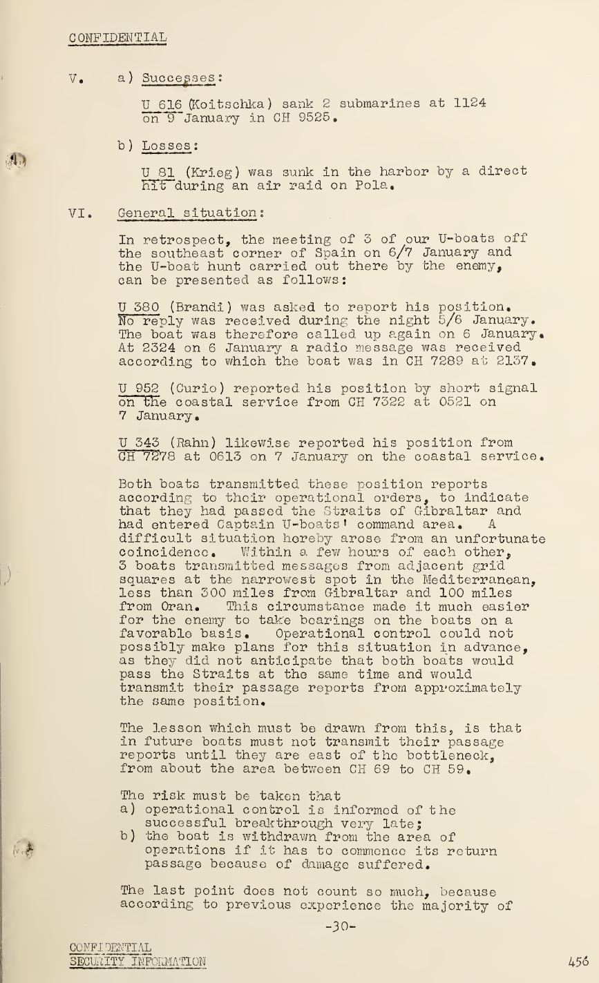 War Diary of Captain U-Boats Sample Entry 6