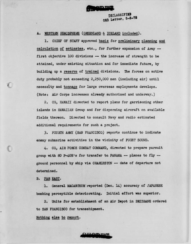 World-War-II-War-Department-Operational-Summary-Page-1