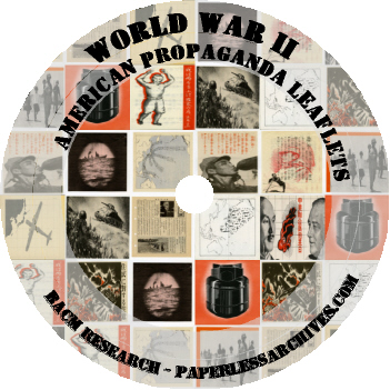 World War II American Propaganda Leaflets CD-ROM