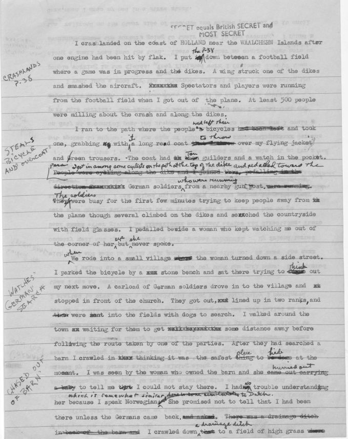 World War II Escape and and Evasion Report Sample Page 3