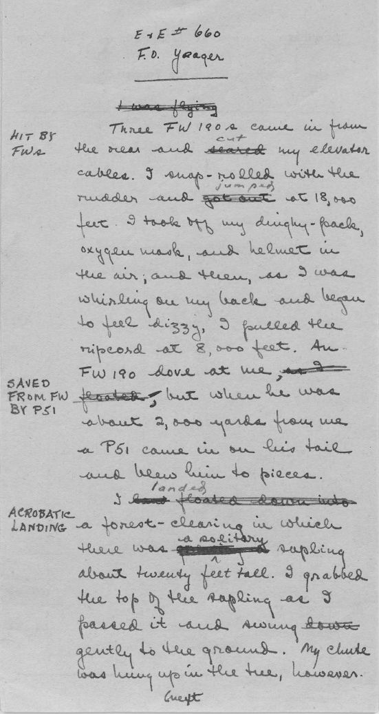 World War II Escape and and Evasion Report Sample Page 5