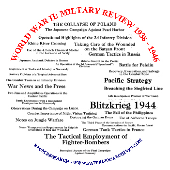 World War II Military Review 1938 - 1948