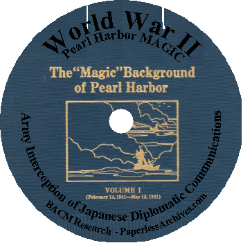 World War II Pearl Harbor MAGIC Army Interception of Japanese Diplomatic Communications CD-ROM
