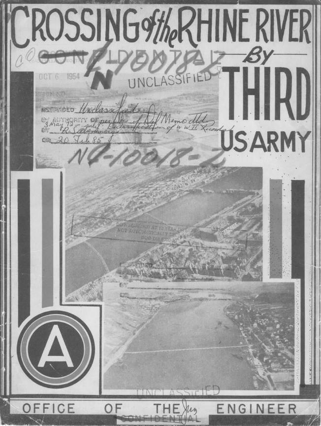 World War II Third Army Rhine Crossing Report
