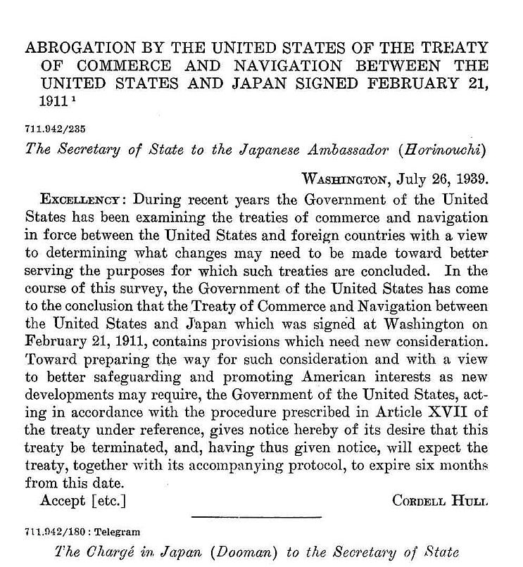 July-26-1939-Abrogation-by-the-United-States-of-the-treaty-of-commerce-and-navigation-between-the-United-States-and-Japan-signed-February-21-1911